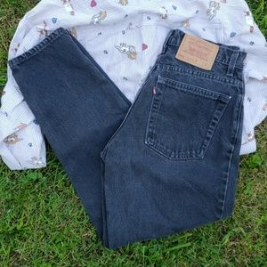 Vintage Black Levi's High Waist Rise Jeans